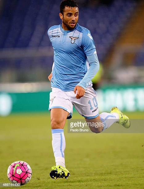 Felipe Anderson of SS Lazio in action during the Serie A match between SS Lazio and Genoa CFC at Stadio Olimpico on September 23 2015 in Rome Italy