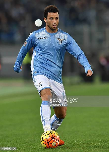 Felipe Anderson of SS Lazio in action during the Serie A match between SS Lazio and AC Milan at Stadio Olimpico on November 1 2015 in Rome Italy