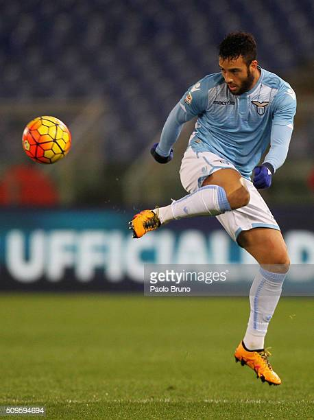 Felipe Anderson of SS Lazio in action during the Serie A match between SS Lazio and Hellas Verona FC at Stadio Olimpico on February 11 2016 in Rome...