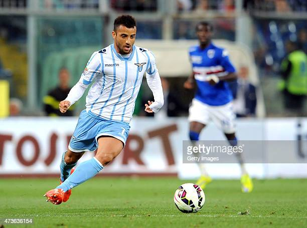 Felipe Anderson of SS Lazio in action during the Serie A match between UC Sampdoria and SS Lazio at Stadio Luigi Ferraris on May 16 2015 in Genoa...