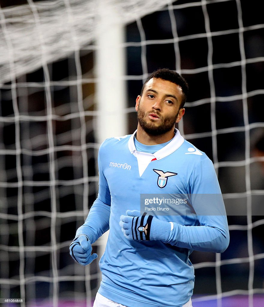 <a gi-track='captionPersonalityLinkClicked' href=/galleries/search?phrase=Felipe+Anderson&family=editorial&specificpeople=7358255 ng-click='$event.stopPropagation()'>Felipe Anderson</a> of SS Lazio looks on during the Serie A match between SS Lazio and UC Sampdoria at Stadio Olimpico on January 5, 2015 in Rome, Italy.