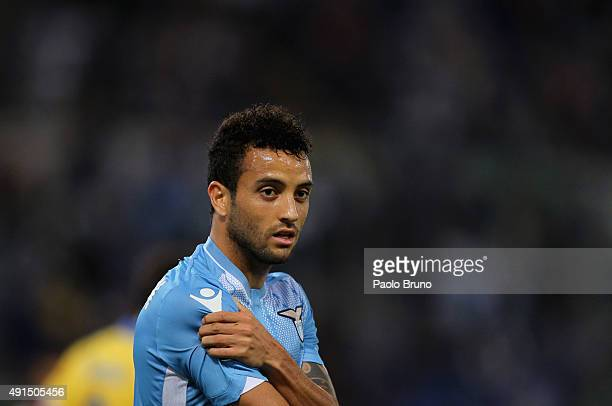Felipe Anderson of SS Lazio looks on during the Serie A match between SS Lazio and Frosinone Calcio at Stadio Olimpico on October 4 2015 in Rome Italy