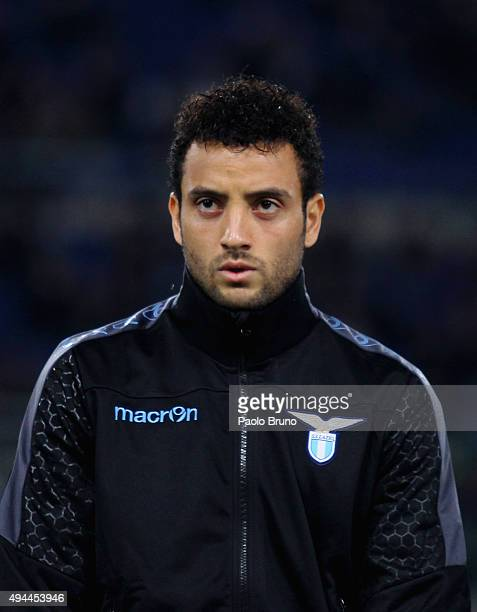 Felipe Anderson of SS Lazio looks on during the UEFA Europa League group G match between SS Lazio and Rosenborg BK at Stadio Olimpico on October 22...