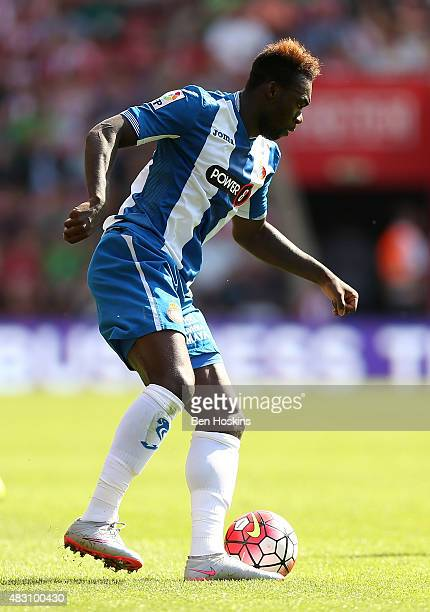 Felipe Caicedo of Espanyol in action during the pre season friendly match between Southampton and Espanyol at St Mary's Stadium on August 2 2015 in...
