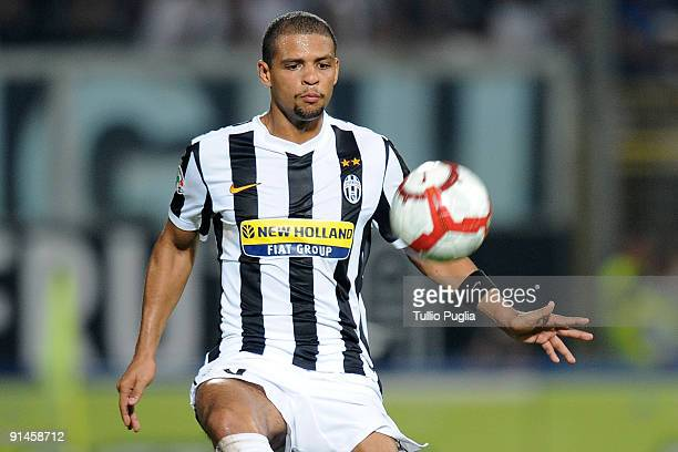 Felipe De Carvalho Melo of Juventus in action during the Serie A match played between US Citta di Palermo and Juventus FC at Stadio Renzo Barbera on...
