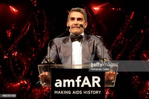 Felipe Diniz attends the 5th Annual amfAR Inspiration Gala at the home of Dinho Diniz on April 10 2015 in Sao Paulo Brazil