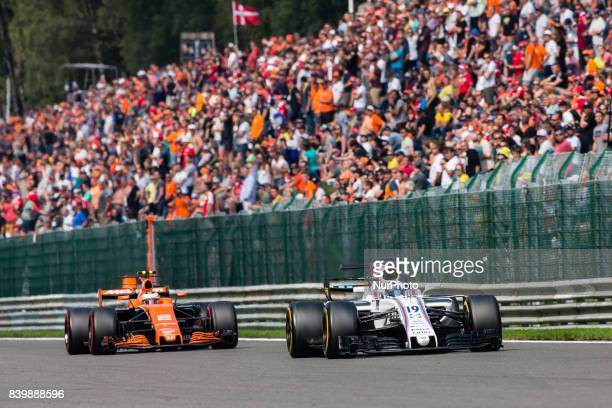 Felipe from Brasil of Williams F1 and 02 VANDOORNE Stoffel from Belgium of McLaren Honda during the Formula One Belgian Grand Prix at Circuit de...