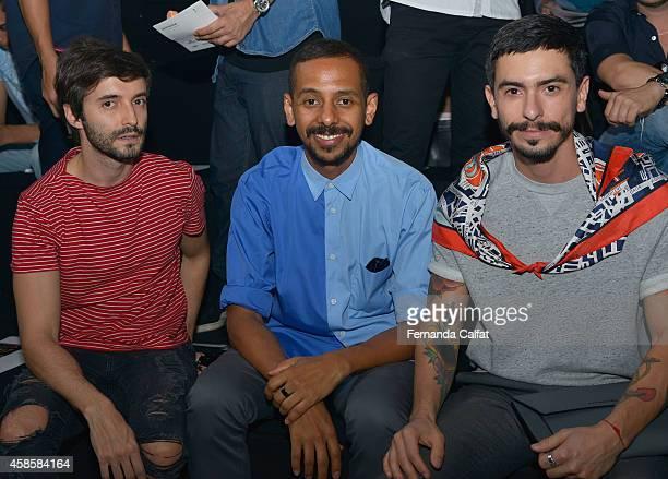 Felipe Gil Antonio Gomes and Rodrigo Polak attend the 2nd Floor fashion show during Sao Paulo Fashion Week Winter 2015 at Parque Candido Portinari on...