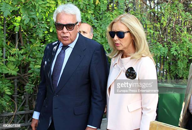 Felipe Gonzalez and Mar Garcia Vaquero are seen on September 30 2015 in Madrid Spain