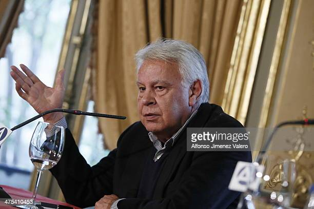 Felipe Gonzalez at  'Project Europe' Press Conference in Madrid  on February 27 2014 in Madrid Spain
