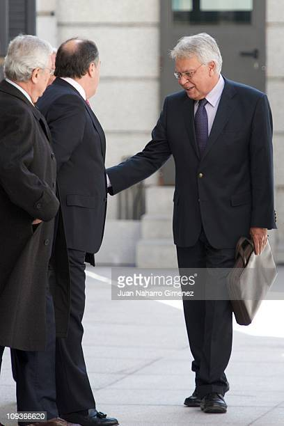 Felipe Gonzalez attends a lunch marking the 30th Anniversary of the failed coup d'etat at Congress of Deputies on February 23 2011 in Madrid Spain
