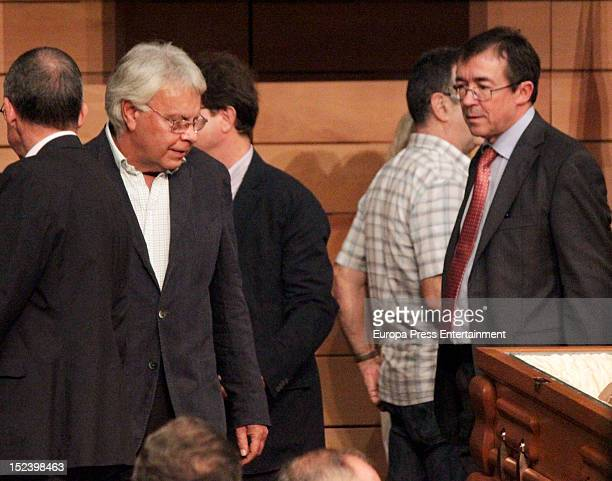 Felipe Gonzalez attends the funeral for former Communist Party leader Santiago Carrillo September 19 2012 in Madrid Spain Carrillo who died at the...