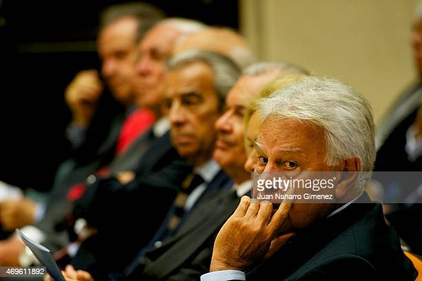 Felipe Gonzalez attends the presentation of the Chair of Latin American of the Pontificia Comillas University on April 13 2015 in Madrid Spain