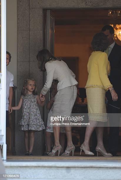 Felipe Juan Froilan Marichalar Princess Leonor of Spain Princess Sofia of Spain Princess Letizia of Spain Queen Sofia and Prince Felipe some minutes...