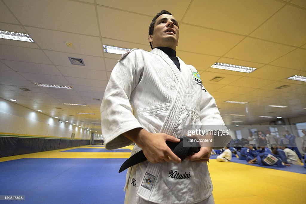 <a gi-track='captionPersonalityLinkClicked' href=/galleries/search?phrase=Felipe+Kitadai&family=editorial&specificpeople=7010364 ng-click='$event.stopPropagation()'>Felipe Kitadai</a> in action during the first official training season of the team, who will represent Brazil in the Olympic Games Rio 2016, at Maria Lenk Aquatic Center on January 29, 2013 in Rio de Janeiro, Brazil.