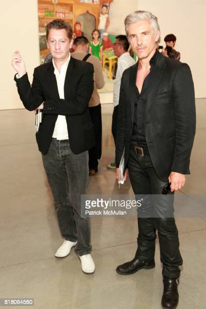 Felipe Lepone and Frank Perin attend Exhibition Opening For LIU XIADONG at Mary Boone Gallery on September 10 2010 in New York City