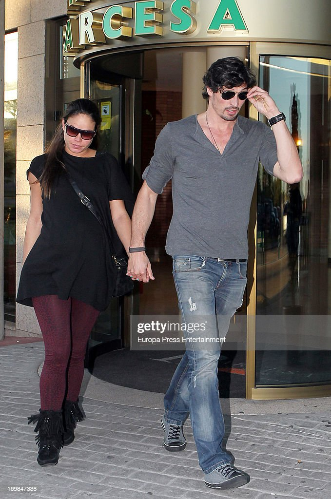 Felipe Lopez (R) and Mireia Canalda visit the chapel of rest for Mario Biondo at Tanatorio Parcesa on May 31, 2013 in Madrid, Spain. Spanish television presenter Raquel Sanchez Silva found her 36 year-old-husband, Italian cameraman Mario Biondo, dead at their home after returning from work on May 30.