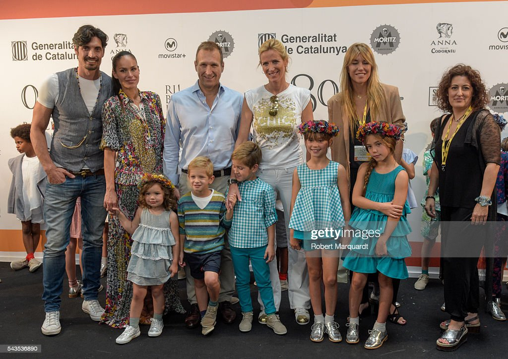 Felipe Lopez, <a gi-track='captionPersonalityLinkClicked' href=/galleries/search?phrase=Mireia+Canalda&family=editorial&specificpeople=4356463 ng-click='$event.stopPropagation()'>Mireia Canalda</a>, Juan Manuel Alcaraz, Alejandra Prat and Raquel Mantero attend the front row of CND By Condor show during the Barcelona 080 Fashion Week Spring/Summer 2017 at the INFEC on June 29, 2016 in Barcelona, Spain.