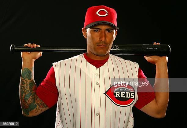 Felipe Lopez poses during Cincinnati Reds photo day on February 24 2006 at Ed Smith Stadium in Sarasota Florida