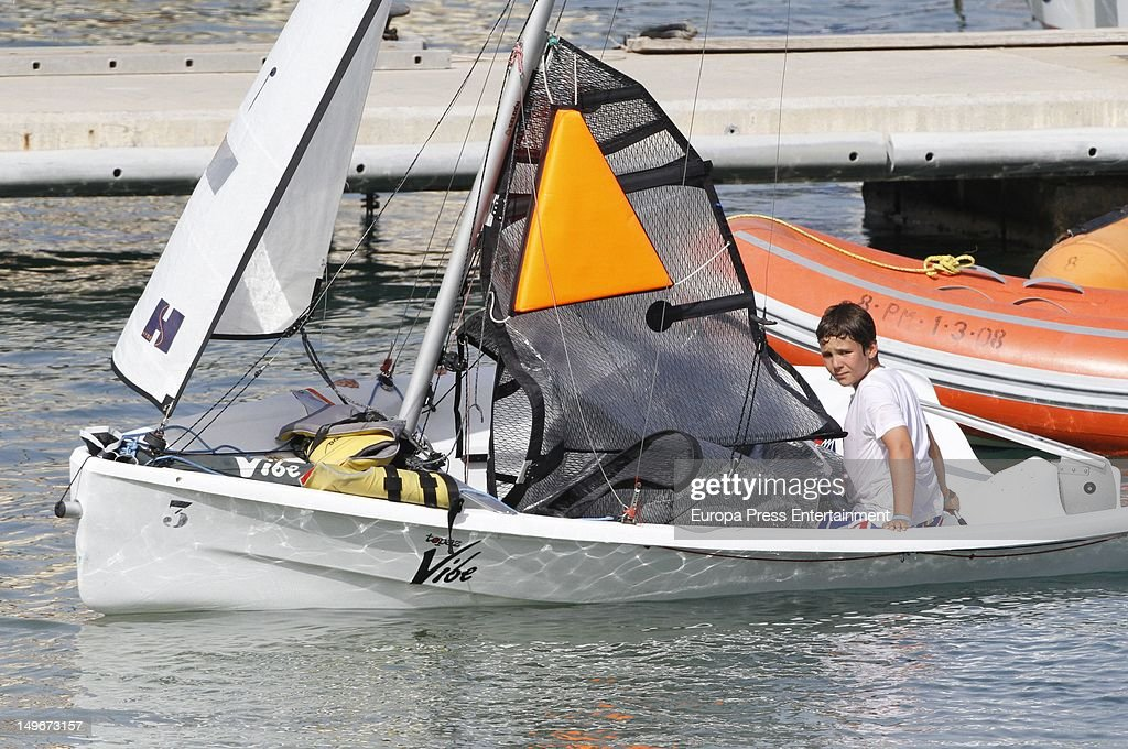 Felipe Marichalar Borbon attends in the navy club at sailng class on August 1, 2012 in Palma de Mallorca, Spain.
