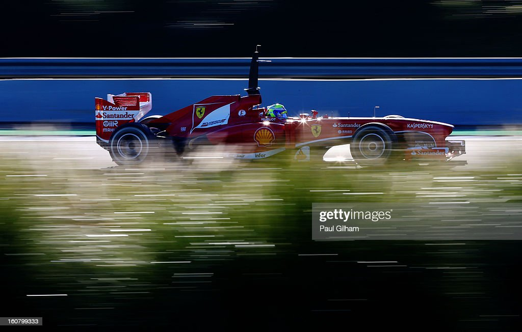 Felipe Massa of Brazil and Ferrari drives during Formula One winter testing at Circuito de Jerez on February 6, 2013 in Jerez de la Frontera, Spain.