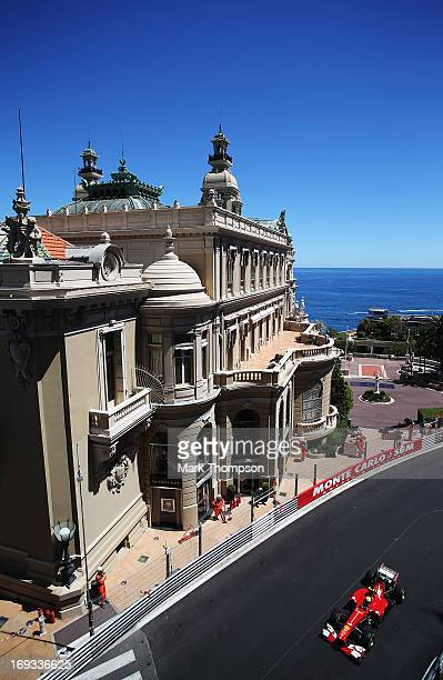 Felipe Massa of Brazil and Ferrari drives during practice for the Monaco Formula One Grand Prix at the Circuit de Monaco on May 23 2013 in MonteCarlo...