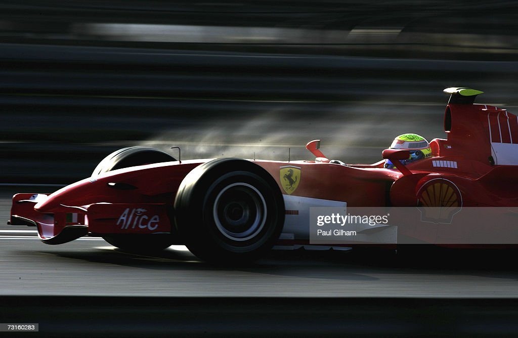 Felipe Massa of Brazil and Ferrari in action during Formula One testing at the Circuit Ricardo Tormo on January 31 2007 in Valencia Spain