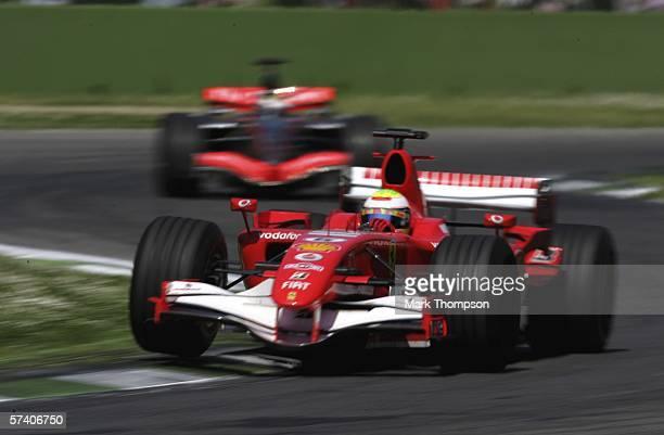 Felipe Massa of Brazil and Ferrari in action during the San Marino Formula One Grand Prix at the San Marino Circuit on April 23 in Imola Italy