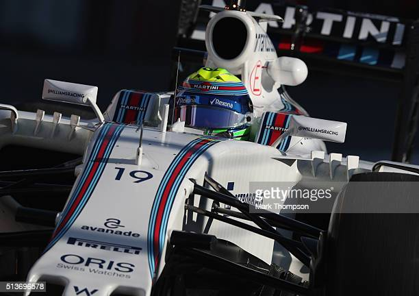 Felipe Massa of Brazil and Williams drives during day four of F1 winter testing at Circuit de Catalunya on March 4 2016 in Montmelo Spain