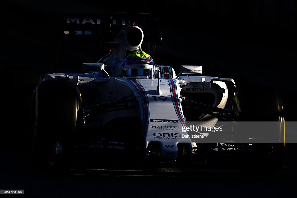 <a gi-track='captionPersonalityLinkClicked' href=/galleries/search?phrase=Felipe+Massa&family=editorial&specificpeople=206660 ng-click='$event.stopPropagation()'>Felipe Massa</a> of Brazil and Williams drives during day three of the final Formula One Winter Testing at Circuit de Catalunya on February 28, 2015 in Montmelo, Spain.