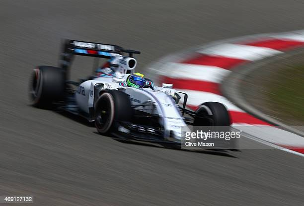 Felipe Massa of Brazil and Williams drives during practice for the Formula One Grand Prix of China at Shanghai International Circuit on April 10 2015...
