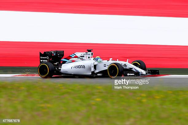 Felipe Massa of Brazil and Williams drives during practice for the Formula One Grand Prix of Austria at Red Bull Ring on June 19 2015 in Spielberg...