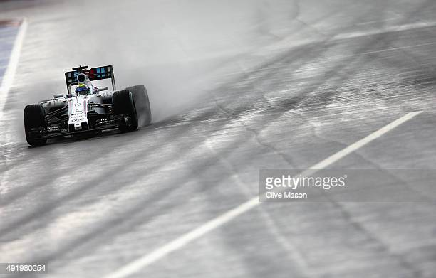 Felipe Massa of Brazil and Williams drives during practice for the Formula One Grand Prix of Russia at Sochi Autodrom on October 9 2015 in Sochi...