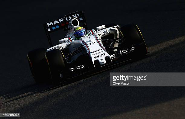 Felipe Massa of Brazil and Williams drives during qualifying for the Formula One Grand Prix of China at Shanghai International Circuit on April 11...