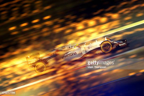Felipe Massa of Brazil and Williams drives during qualifying for the Bahrain Formula One Grand Prix at Bahrain International Circuit on April 18 2015...