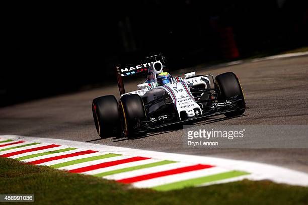 Felipe Massa of Brazil and Williams drives during qualifying for the Formula One Grand Prix of Italy at Autodromo di Monza on September 5 2015 in...
