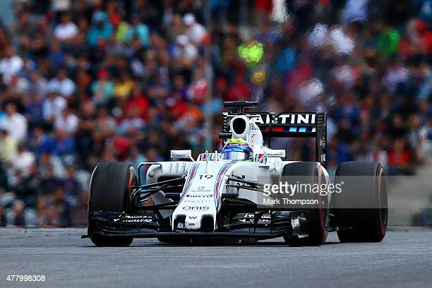 Felipe Massa of Brazil and Williams drives during the Formula One Grand Prix of Austria at Red Bull Ring on June 21 2015 in Spielberg Austria