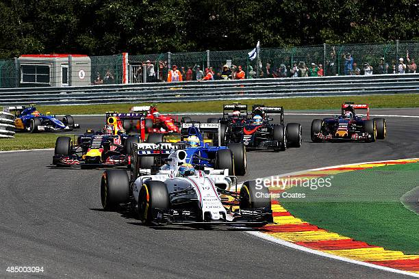 Felipe Massa of Brazil and Williams drives during the Formula One Grand Prix of Belgium at Circuit de SpaFrancorchamps on August 23 2015 in Spa...