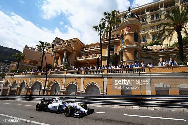 Felipe Massa of Brazil and Williams drives during the Monaco Formula One Grand Prix at Circuit de Monaco on May 24 2015 in MonteCarlo Monaco