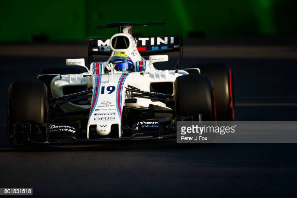 Felipe Massa of Brazil and Williams during the Azerbaijan Formula One Grand Prix at Baku City Circuit on June 25 2017 in Baku Azerbaijan