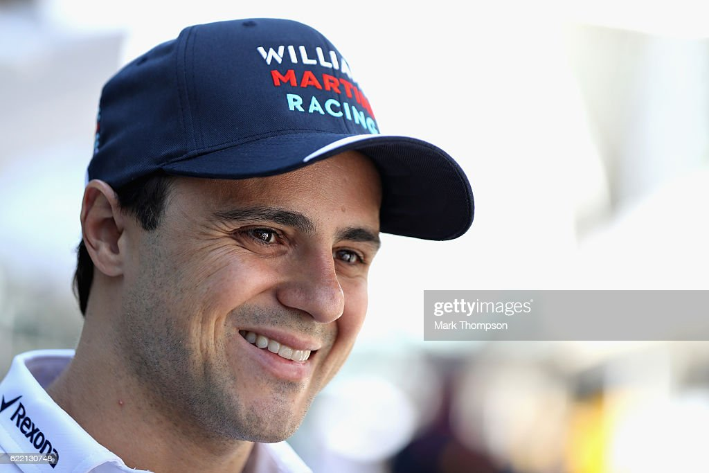 Felipe Massa of Brazil and Williams in the Paddock during previews for the Formula One Grand Prix of Brazil at Autodromo Jose Carlos Pace on November 10, 2016 in Sao Paulo, Brazil.