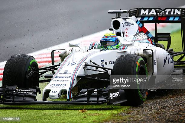 Felipe Massa of Brazil and Williams runs wide during practice for the Formula One Grand Prix of Japan at Suzuka Circuit on September 25 2015 in Suzuka