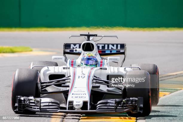 Felipe Massa of Brazil driving for Williams Martini Racing on Friday Free Practice during the 2017 Rolex Australian Formula 1 Grand Prix at Albert...