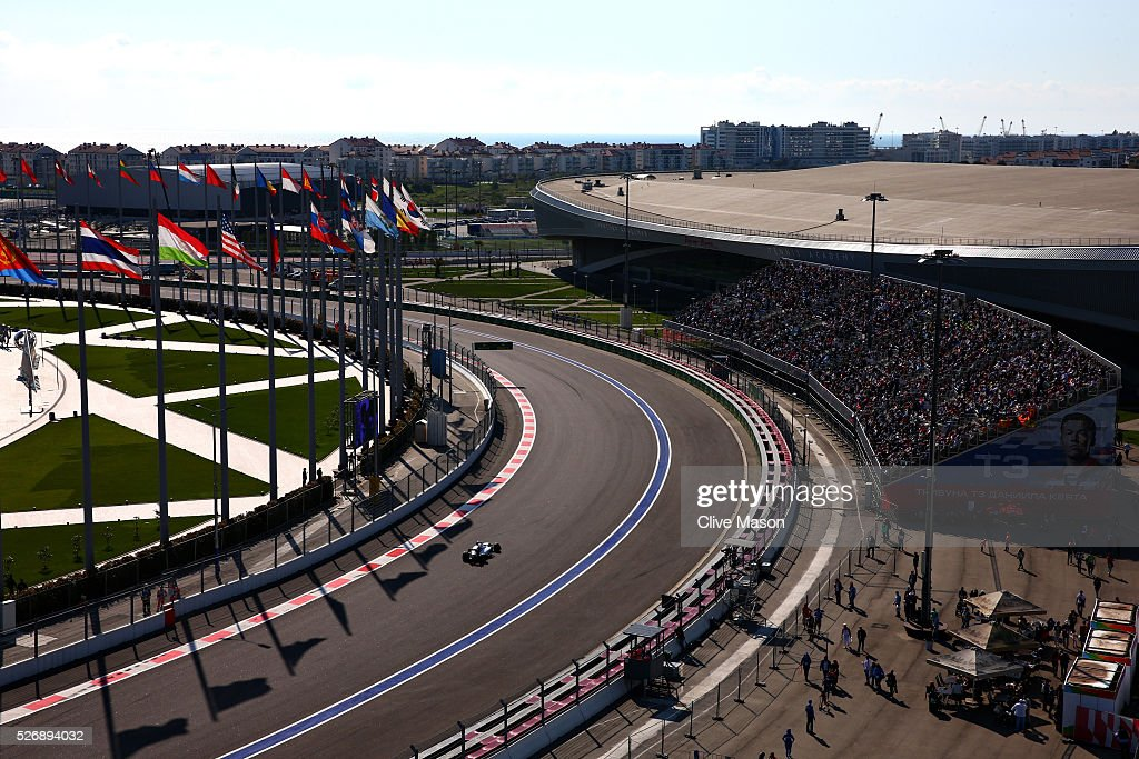 <a gi-track='captionPersonalityLinkClicked' href=/galleries/search?phrase=Felipe+Massa&family=editorial&specificpeople=206660 ng-click='$event.stopPropagation()'>Felipe Massa</a> of Brazil driving the (19) Williams Martini Racing Williams FW38 Mercedes PU106C Hybrid turbo on track during the Formula One Grand Prix of Russia at Sochi Autodrom on May 1, 2016 in Sochi, Russia.