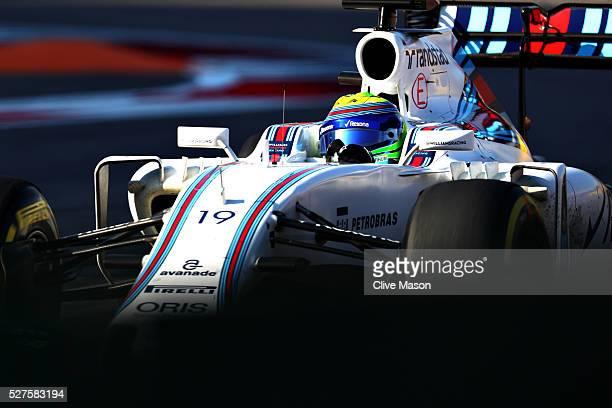 Felipe Massa of Brazil driving the Williams Martini Racing Williams FW38 Mercedes PU106C Hybrid turbo on track during the Formula One Grand Prix of...