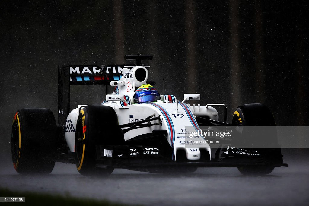 Felipe Massa of Brazil driving the (19) Williams Martini Racing Williams FW38 Mercedes PU106C Hybrid turbo on track during practice for the Formula One Grand Prix of Austria at Red Bull Ring on July 1, 2016 in Spielberg, Austria.