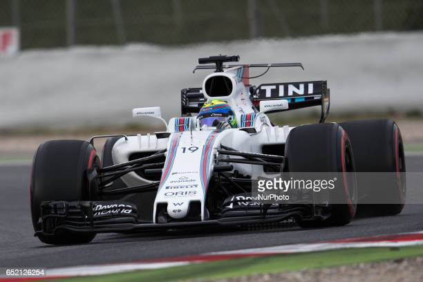 Felipe Massa of Brazil driving the Williams Martini Racing Williams FW40 Mercedes in action during the Formula One winter testing at Circuit de...