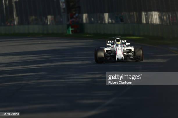 Felipe Massa of Brazil driving the Williams Martini Racing Williams FW40 Mercedes on track during the Australian Formula One Grand Prix at Albert...