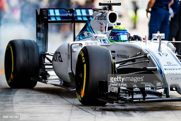 Felipe Massa of Williams and Brazil during the Abu Dhabi Formula One Grand Prix at Yas Marina Circuit on November 29 2015 in Abu Dhabi United Arab...