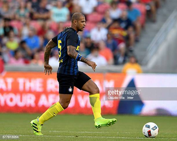 Felipe Melo of FC Internazionale in action during the friendly match played between Real Salt Lake and FC Internazionale at Rio Tinto Stadium on July...